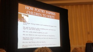 I attended sessions that I thought would benefit our classes the most! Here's a poetry one that I loved.